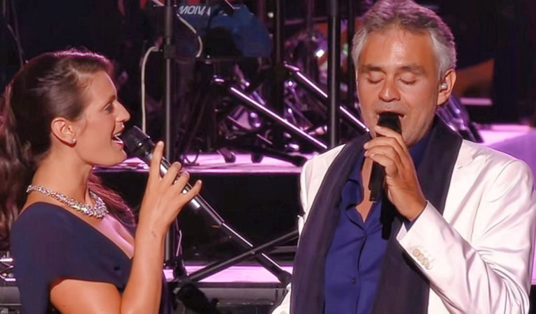 Take a look at this moment of unconditional love manifesting, as Andrea Bocelli sings in a duet with his wife.