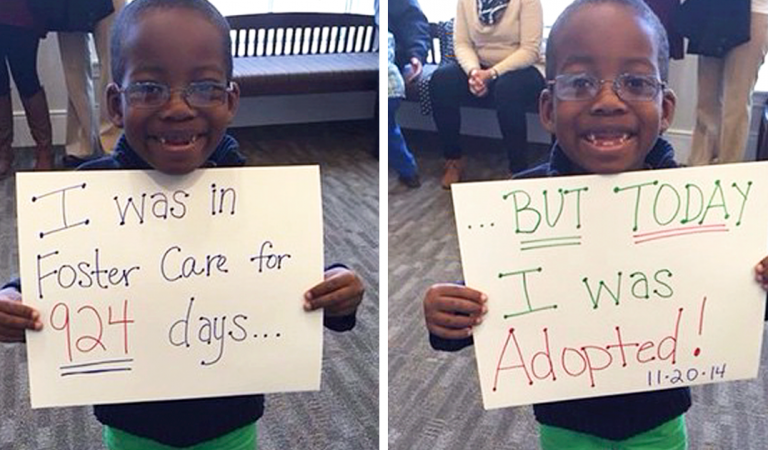 More than 15 Photos of Children Who Were Adopted.