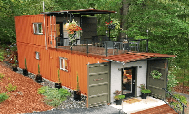 Couple Builds a Debt Free House From Shipping Containers.